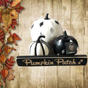 Target Halloween Fall Decor Glitter Pumpkins&Sign